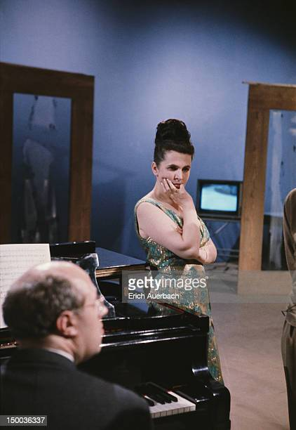 Russian operatic soprano Galina Vishnevskaya with her husband cellist and conductor Mstislav Rostropovich circa 1965