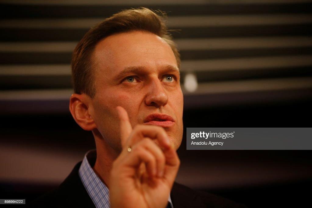 Russian opposition leader Alexei Navalny... : News Photo