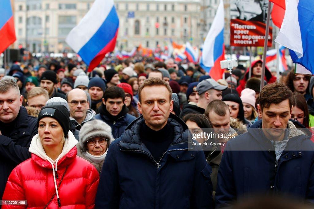 March in memory of Boris Nemtsov in Moscow : Nachrichtenfoto