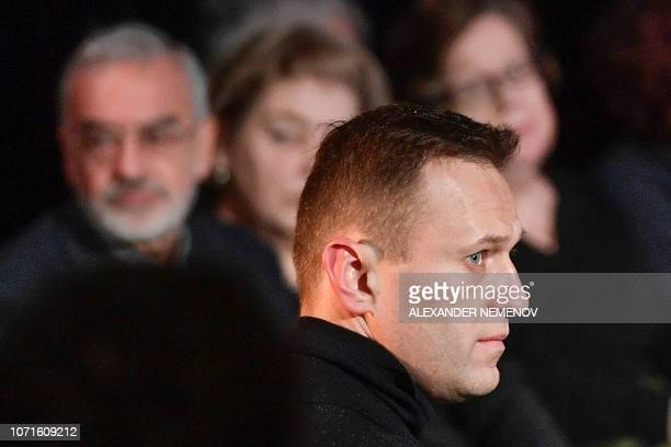 Russian opposition leader Alexei Navalny pays his last respects to Lyudmila Alexeyeva, a Soviet-era dissident who became a symbol of resistance in...
