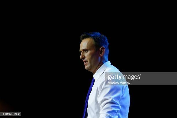 Russian opposition leader Alexei Navalny with his supporters, held a public meeting with independent candidates for the Moscow's City Duma elections...