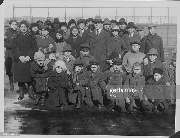 Russian orphans arriving in New York on board the 'USS Princess Matoika', following the end of World War One, circa 1918-1925.