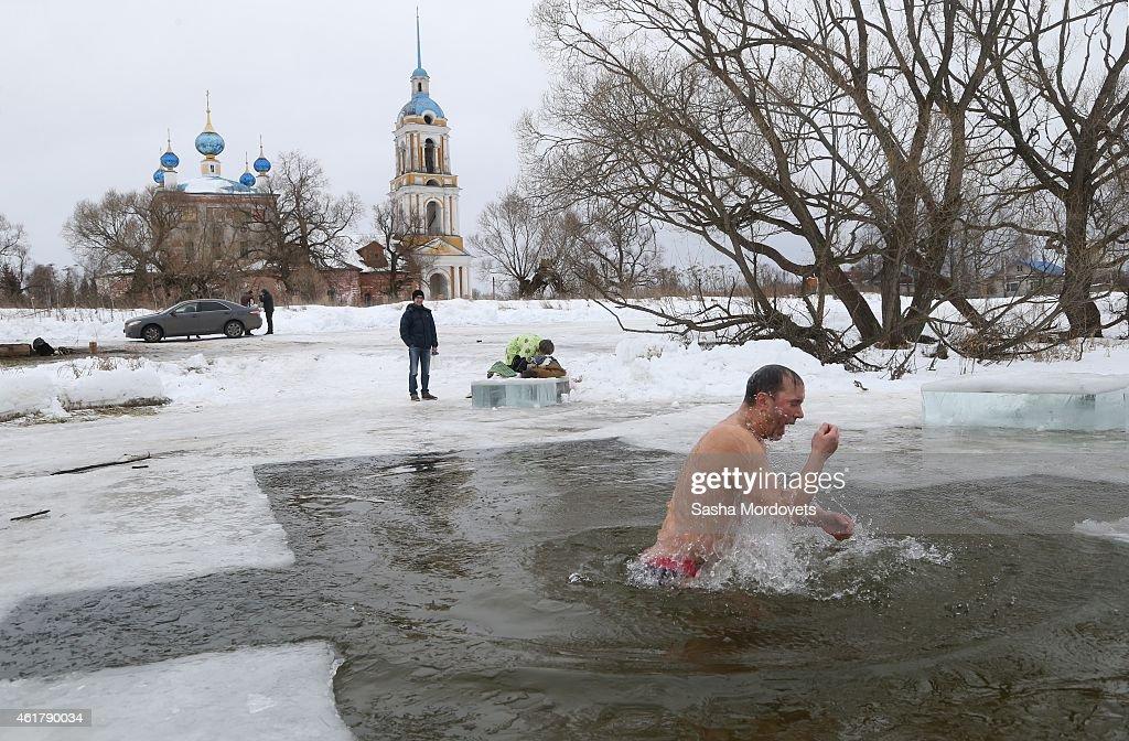 Orthodox Christians Celebrate Epiphany : News Photo