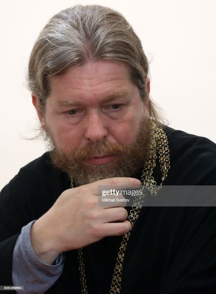 Russian Orthodox Church Bishop Tikhon (Shevkunov) attends a meeting on August 18, 2017 on Sevastopol, Crimea. Vladimir Putin is in a three day trip to the Black Sea city of Sevastopol, located in Crimean Peninsula, a disputed territory between Ukraine and Russia, annexed in 2014. Photo by Mikhail Svetlov/Getty Images)