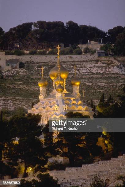 russian orthodox church in jerusalem - garden of gethsemane stock pictures, royalty-free photos & images