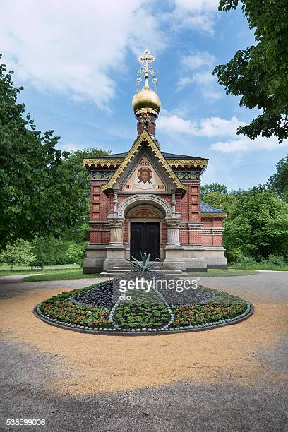russian orthodox church of all saints in bad homburg - bad homburg stock pictures, royalty-free photos & images