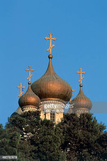 Russian Orthodox Church of Mary Magdalene Mount of Olives Jerusalem Israel