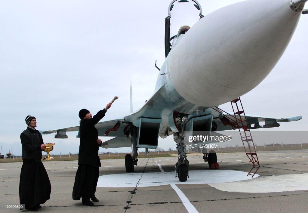 RUSSIA-UKRAINE-CRISIS-CRIMEA-AIR-FORCE : News Photo