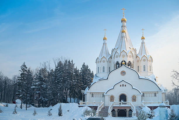 Russian Orthodox Temple in winter