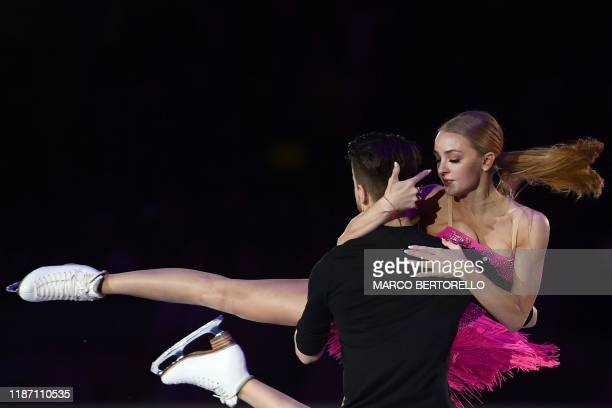 Russian pair Alexandra Stepanova and Ivan Bukin perform during the exhibition gala at the ISU Grand Prix of figure skating Final 2019 on December 8...