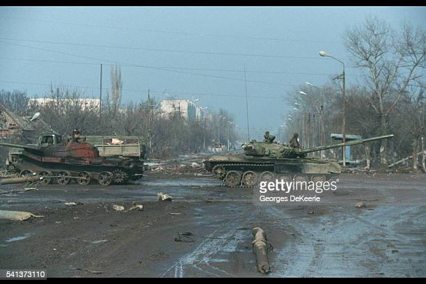 Russian patrol in Grozny.