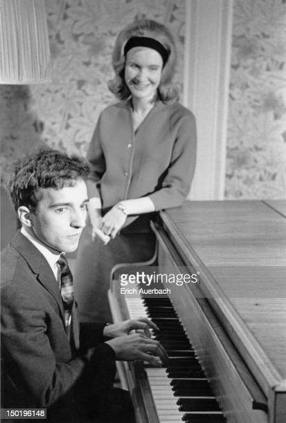 Russian pianist and conductor Vladimir Ashkenazy with his wife Thorunn Johannsdottir UK April 1963