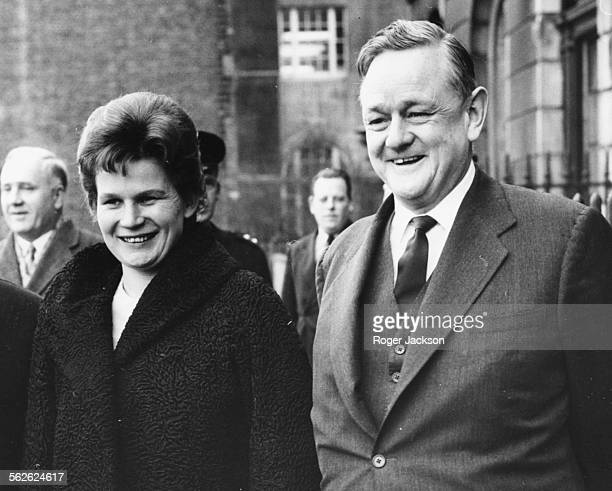 Russian pilot and astronaut Valentina Tereshkova and British Minister of Science Quintin Hogg outside the Ministry of Science in London February 6th...