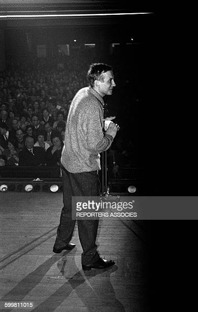 Russian Poet Yevgeny Yevtushenko Gives a Conference in Paris France on February 19 1963