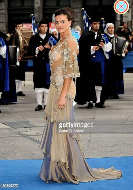 Russian pole vaulter Yelena Isinbayeva attends Prince of Asturias Awards 2009 ceremony at Campoamor Theatre on October 23 2009 in Oviedo Spain