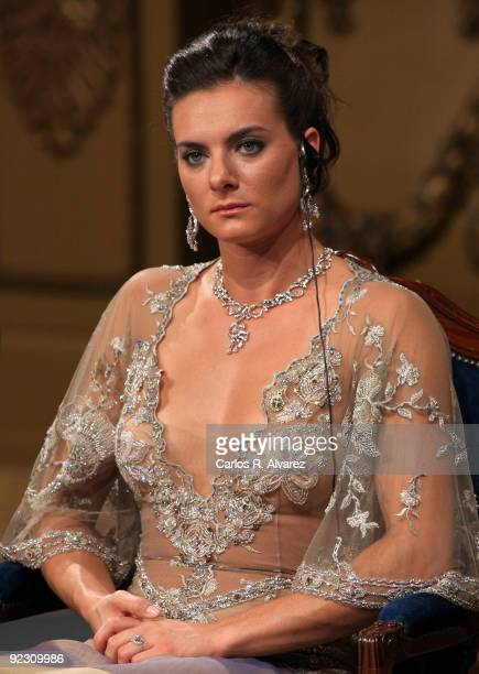 Russian pole vaulter Yelena Isinbayeva attends the Prince of Asturias Awards 2009 ceremony at 'Campoamor' Theater on October 23 2009 in Oviedo Spain