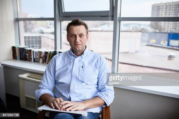 Russian politician Alexey Navalny in his office on April 11 2017 in Moscow Russia