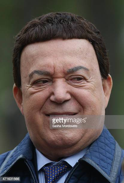 Russian pop singer and State Duma Deputy Joseph Kobzon attends the funeral of Grand Duke Nikolay Nikolayevich Romanov on April 30 2015 near Moscow...