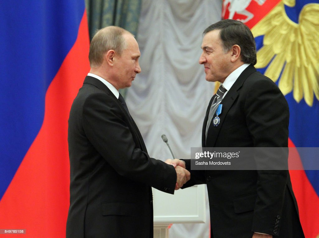 Russian President Vladimir Putin Awards Businessman Aras Agalarov : News Photo