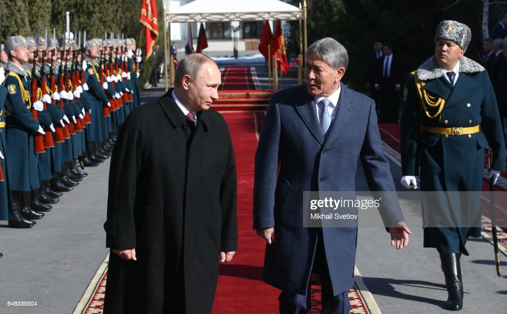 Russian President Vladimir Putin Visits Kyrgyzstan : News Photo