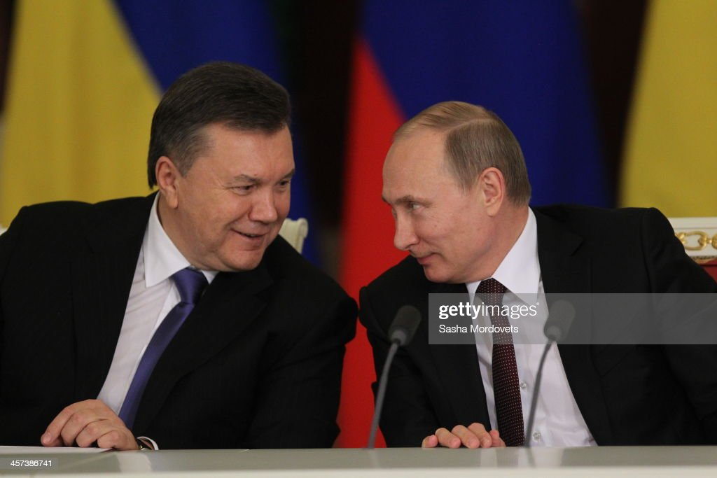 Amidst Protests In Ukraine President Yanukovych Meets With Putin