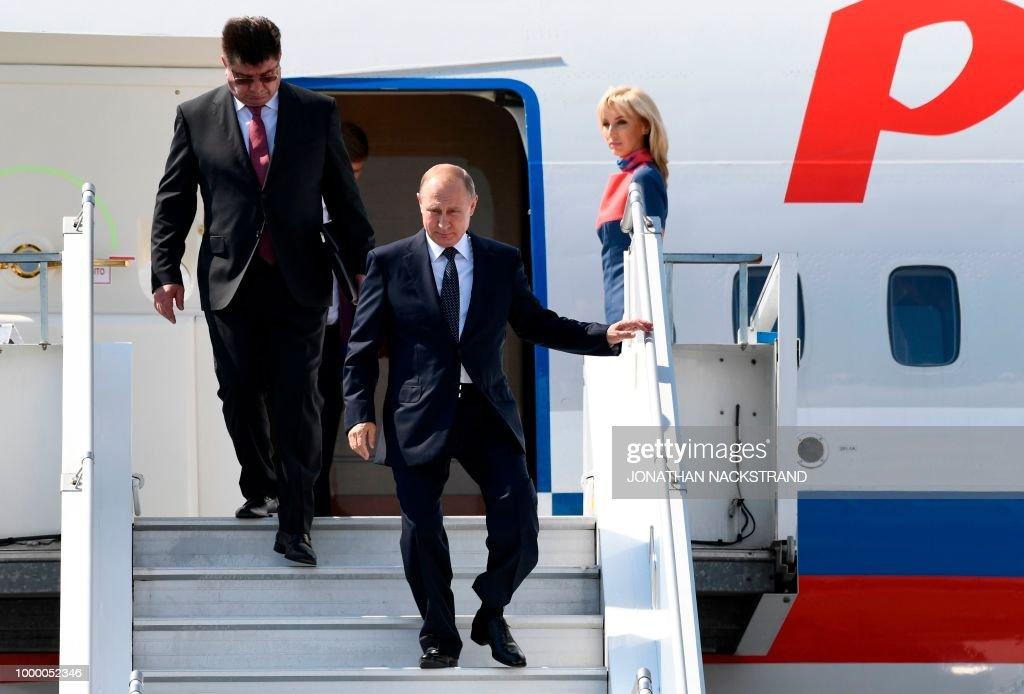 Trump And Putin Shake In Helsinki