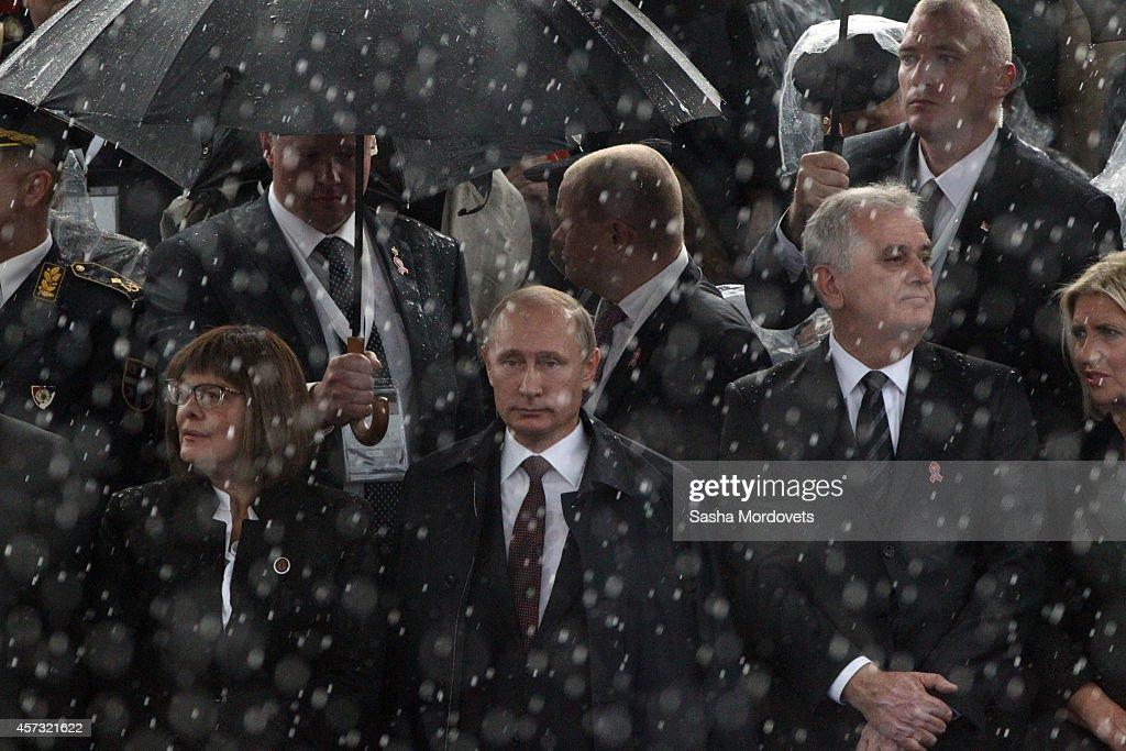 Russian President Vladimir Putin On A One Day Visit In Belgrade : News Photo
