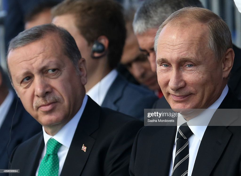 Russian President Vladimir Putin Attends Moscow Cathedral Mosque Opening : News Photo