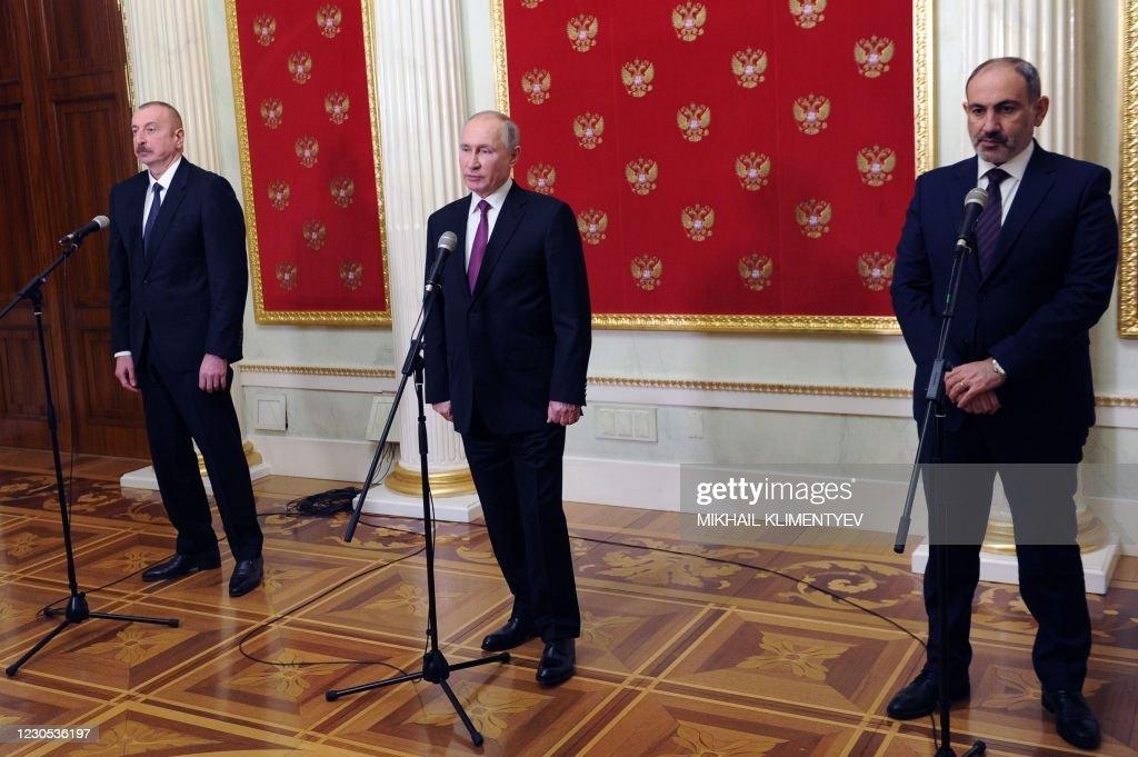 RUSSIA-ARMENIA-AZERBAIJAN-KARABAKH-CONFLICT-DIPLOMACY : News Photo