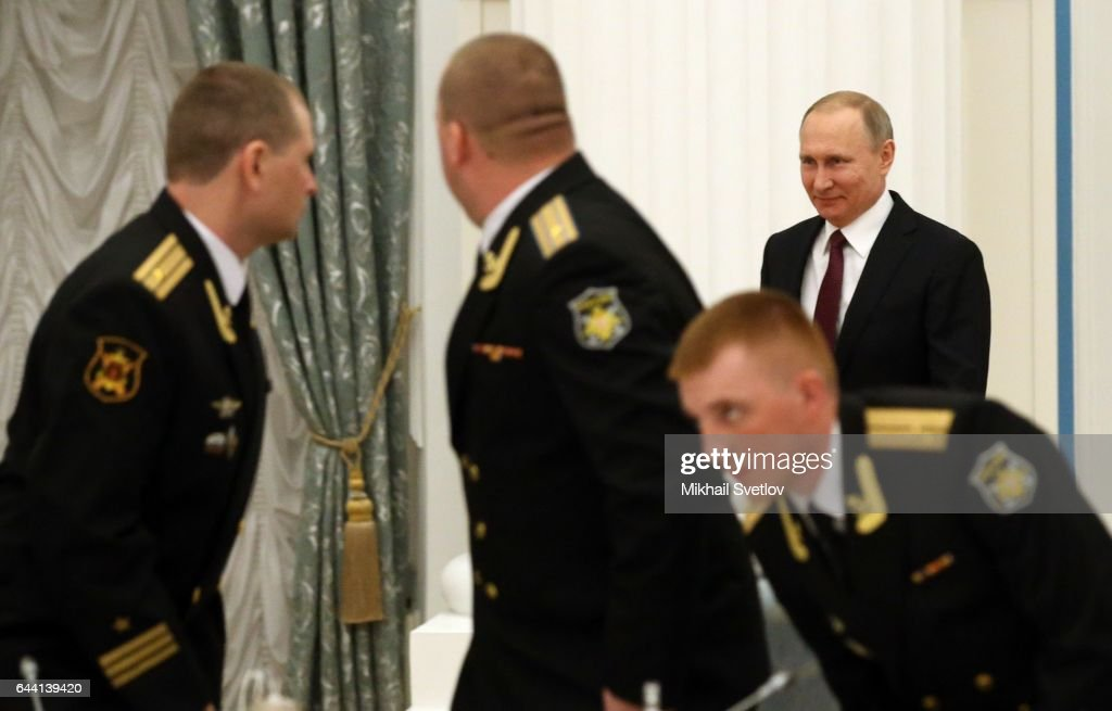 Russian President Vladimir Putin marks the Defender of the Fatherland Day : News Photo