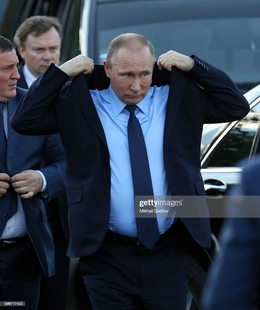 Vladimir Putin Visits Volgograd : News Photo