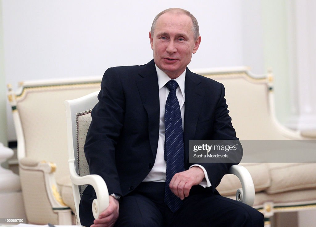 Russian President Vladimir Putin Attends Meeting With President Of South Ossetia Leonid Tibilov