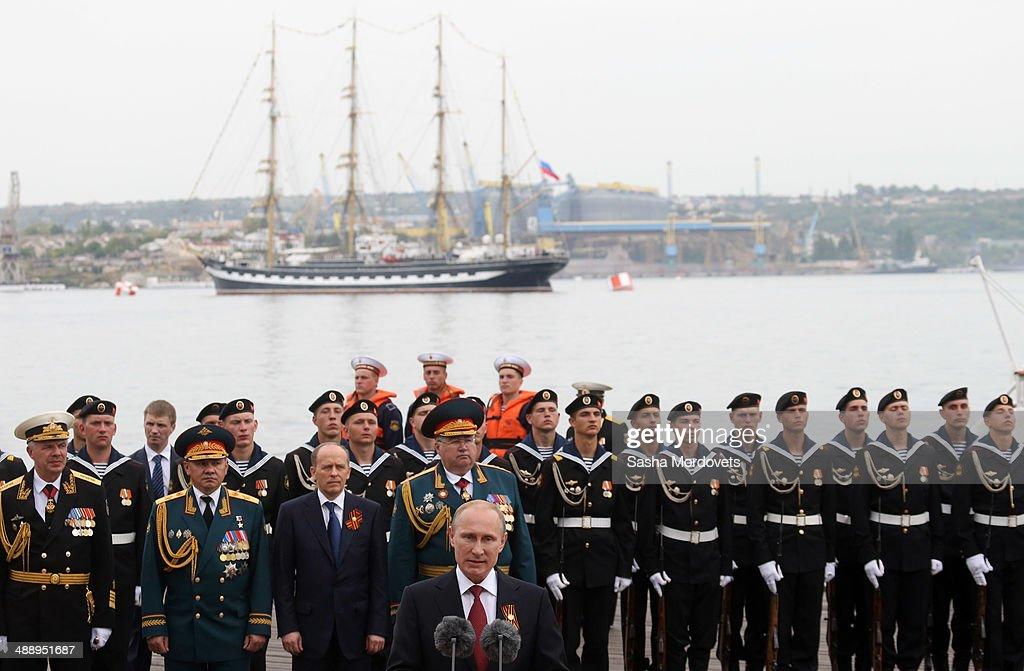 Russian President Vladimir Putin visits Sevastopol : News Photo