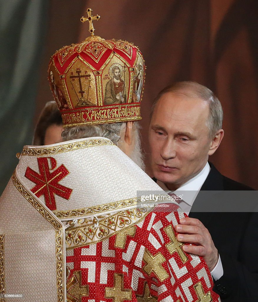 Orthodox Easter Service in Moscow : News Photo