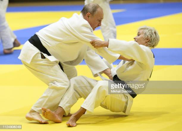 Russian President Vladimir Putin attends judo trainings at Yug Sport complex in Sochi Russia February2019 Russian President Putin has arrived to...
