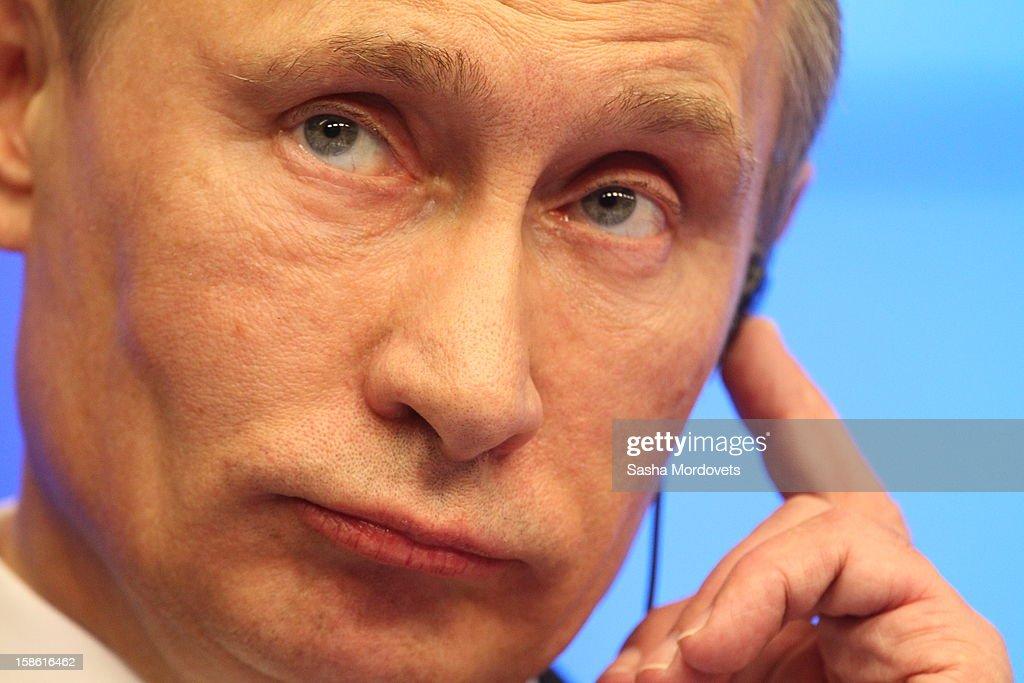 Russian President Vladimir Putin attends the Russia-EU Summit on December 21, 2012 in Brussels, Belgium.