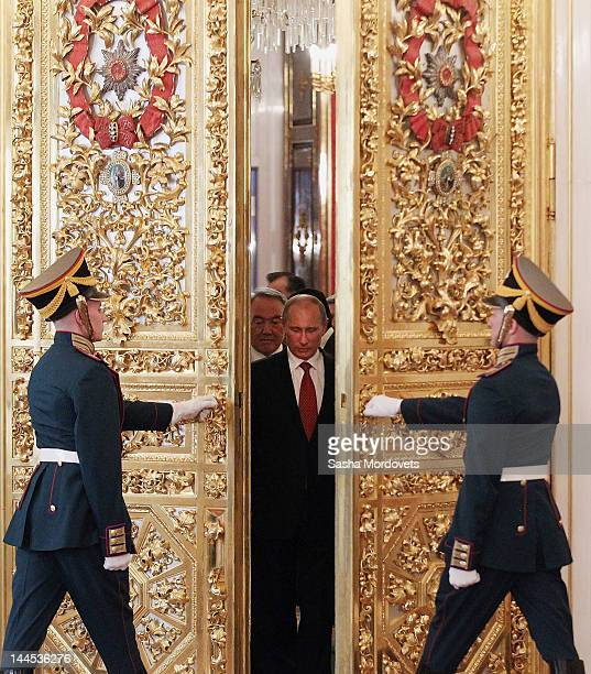 Russian President Vladimir Putin attends the Summit of the Commonwealth of Independent States in Moscow's Grand Kremlin Palace on May 15, 2012 in...
