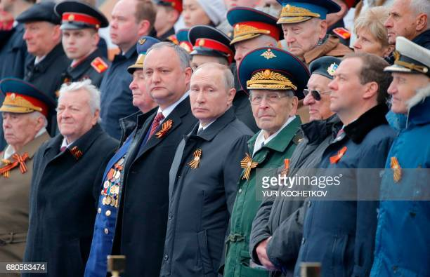 TOPSHOT Russian President Vladimir Putin attends the Victory Day military parade at Red Square in Moscow on May 9 2017 Russia marks the 72nd...