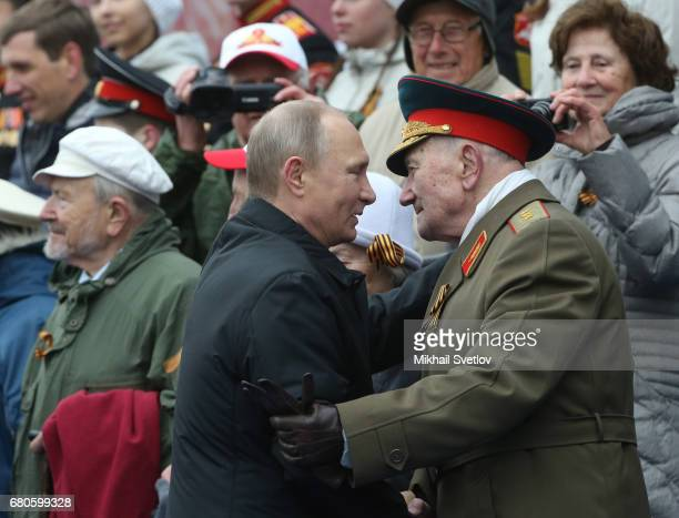 Russian President Vladimir Putin attends the Victory Day military parade to celebrate the 72nd anniversary of the victory in WWII in Red Square on...