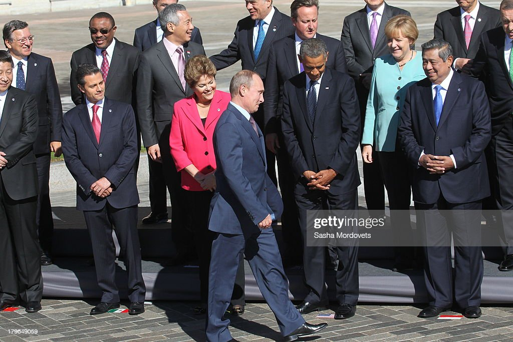 G20 Leaders Meet In St. Petersburg For The Summit : News Photo