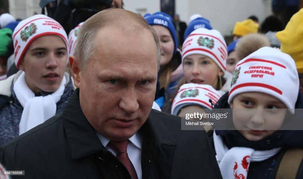 Russian President Vladimir Putin Meets Kids At The Kremlin : News Photo