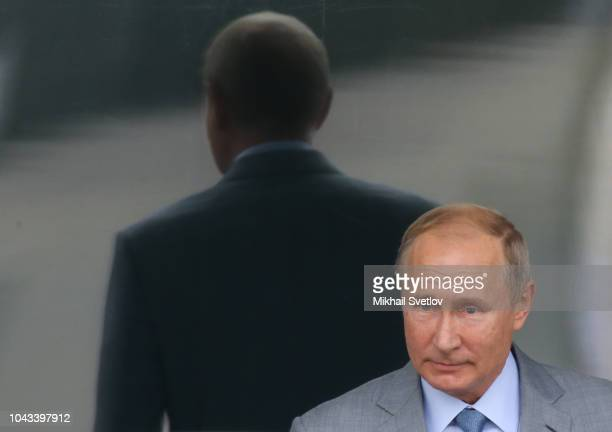 Russian President Vladimir Putin enters the hall during the final of Formula 1 2018 VTB Grand Prix Russia September 30 2018 in Sochi Russia