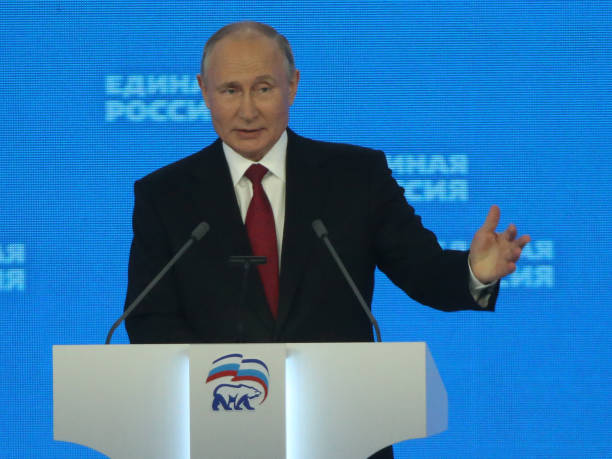 RUS: Russian President Putin Visits 20th Congress Of The United Russia Party