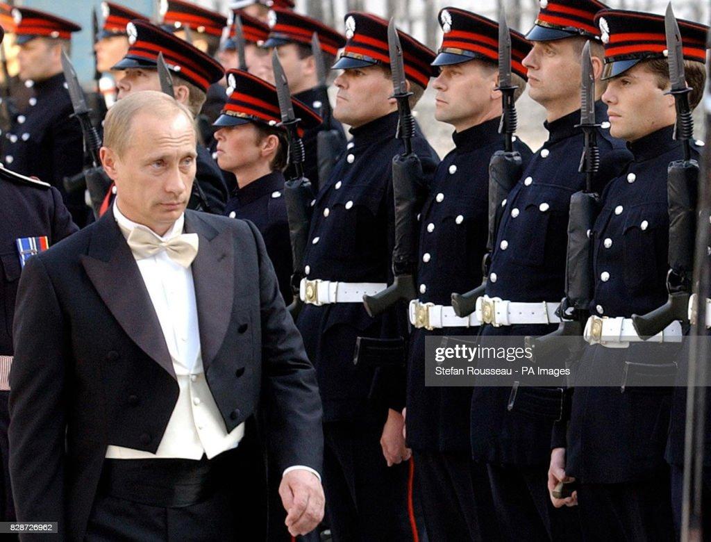 Vladimir Putin Guildhall : News Photo