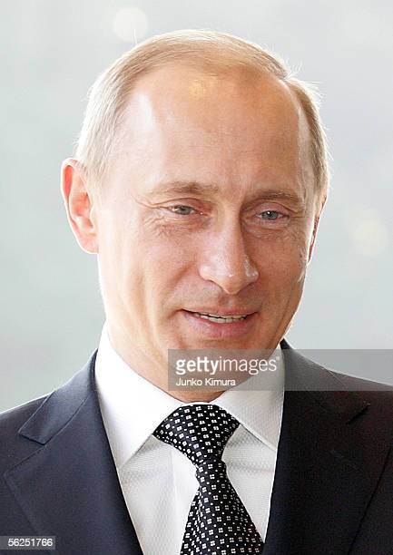 Russian President Vladimir Putin is seen upon his departure at the Imperial Palace on November 22 2005 in Tokyo Japan Putin is on a threeday trip to...