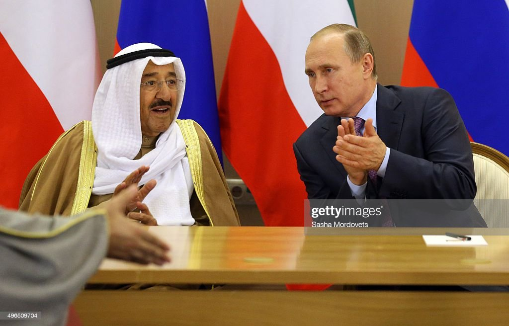 Russian President Vladimir Putin Meets With Emir of Kuwait : News Photo