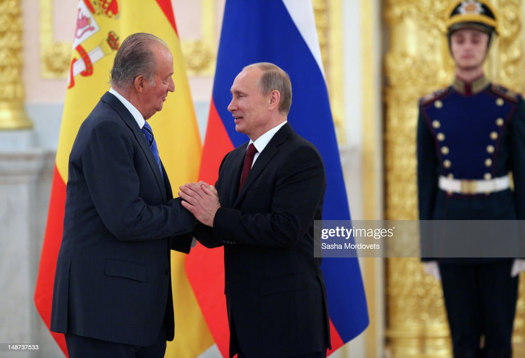 King Juan Carlos I Of Spain State Visit To Russia