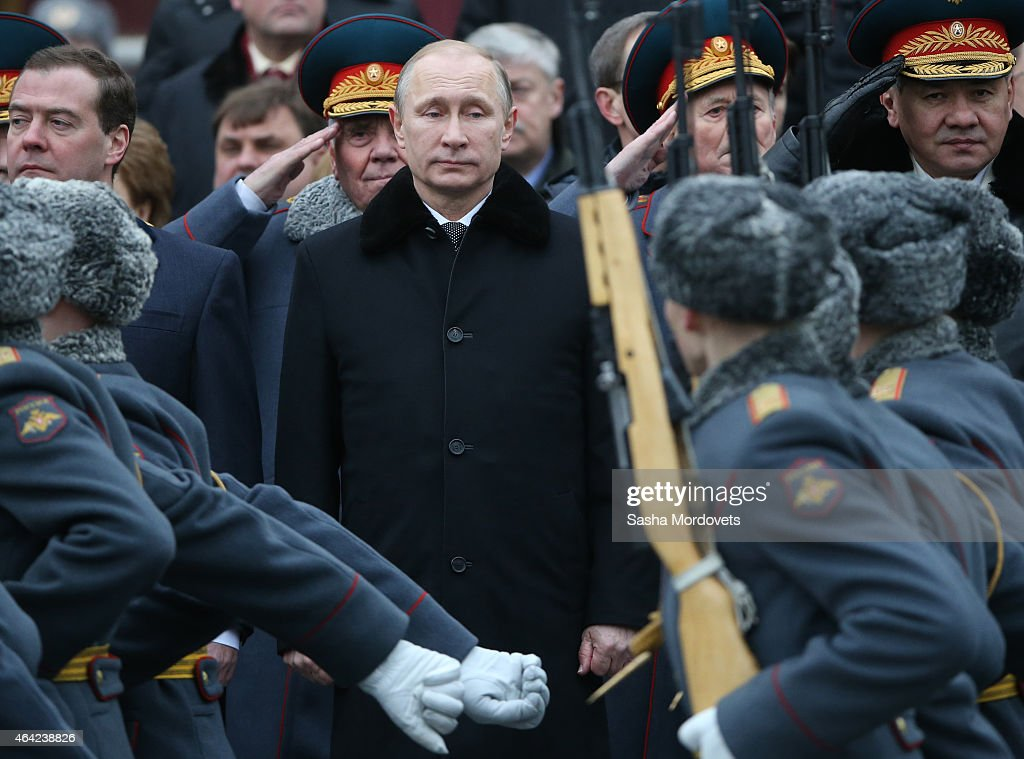 Putin Marks Defender of the Motherland Day In Moscow