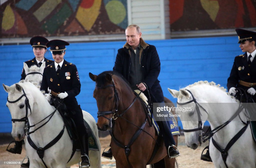 Russian President Vladimir Putin Rides A Horse While Visiting The News Photo Getty Images
