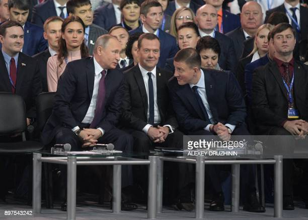 Russian President Vladimir Putin Russian Prime Minister Dmitry Medvedev leader of the United Russia Party Deputy Speaker of the Federation Council...